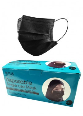 Black Disposable Surgical Face Mask