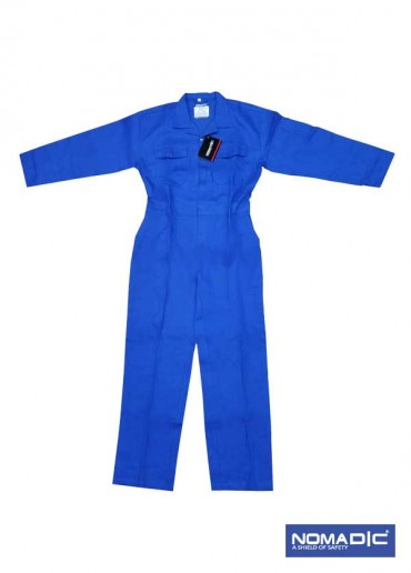 100% Cotton 260 GSM Coverall - Petrol Blue Small