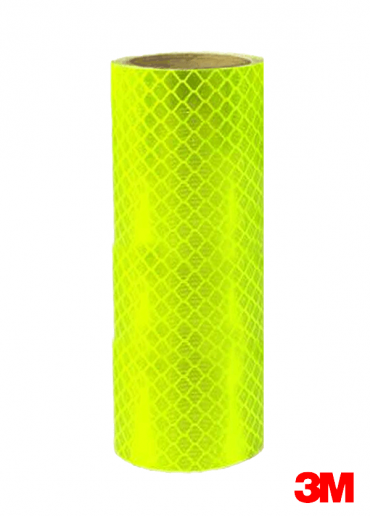 """DG³ Reflective Sheets 48""""x50yd  - Fluo Yellow Green"""