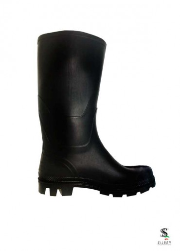 Silbernonsafetypvcblack-boots