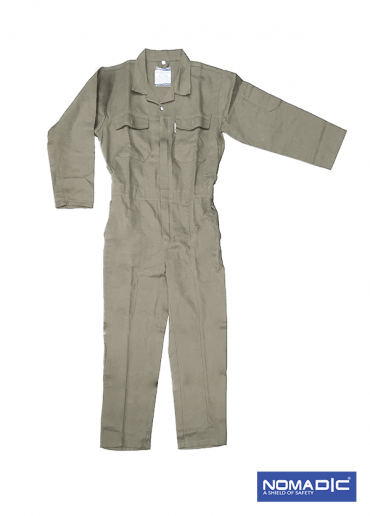 100% Cotton 260 GSM Coverall -Khaki-Large