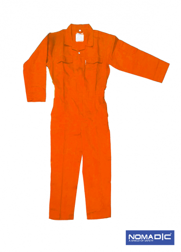 100% Cotton 260 GSM Coverall - Orange Large