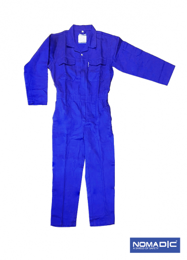 100% Cotton 260 GSM Coverall - Petrol Blue Large