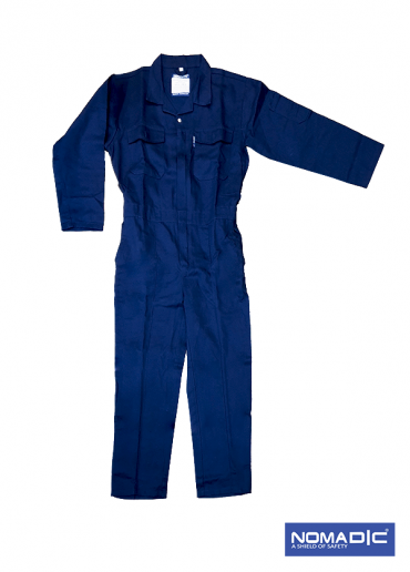 100% Cotton 260 GSM Coverall - Navy Blue
