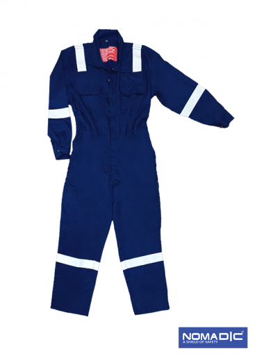 100% Cotton FR 220 GSM - Coverall - Navy Blue