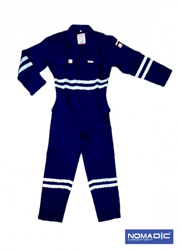 100% Cotton FR 320 GSM- Coverall - Navy Blue- Small